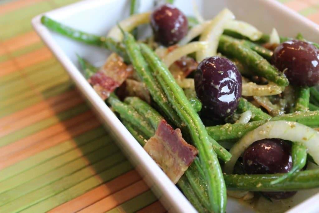 Salade d'haricots sans gluten sans produits laitiers