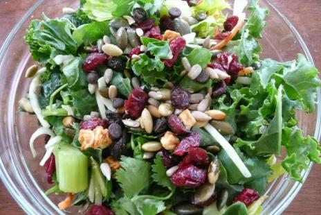 Salades - Salade de Chou Frisé et Canneberges