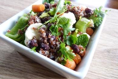 Salade de quinoa et coriandre