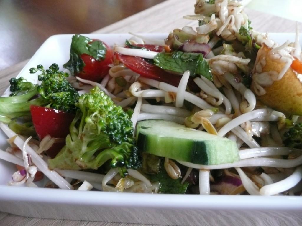 Salade Asiatique sans gluten et sans produits laitiers