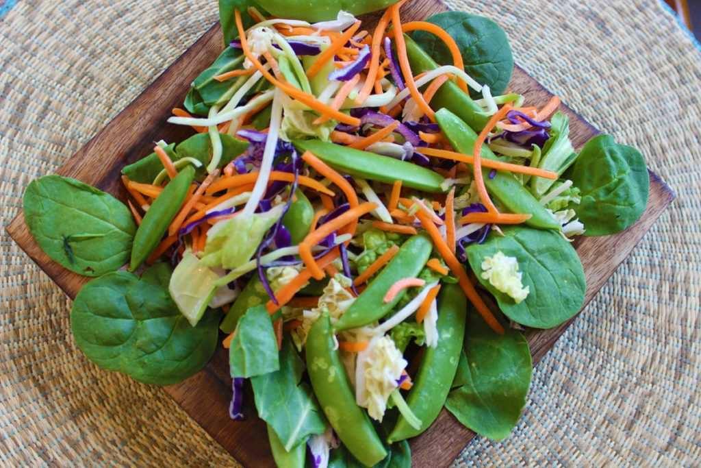 Salade sésame et gingembre