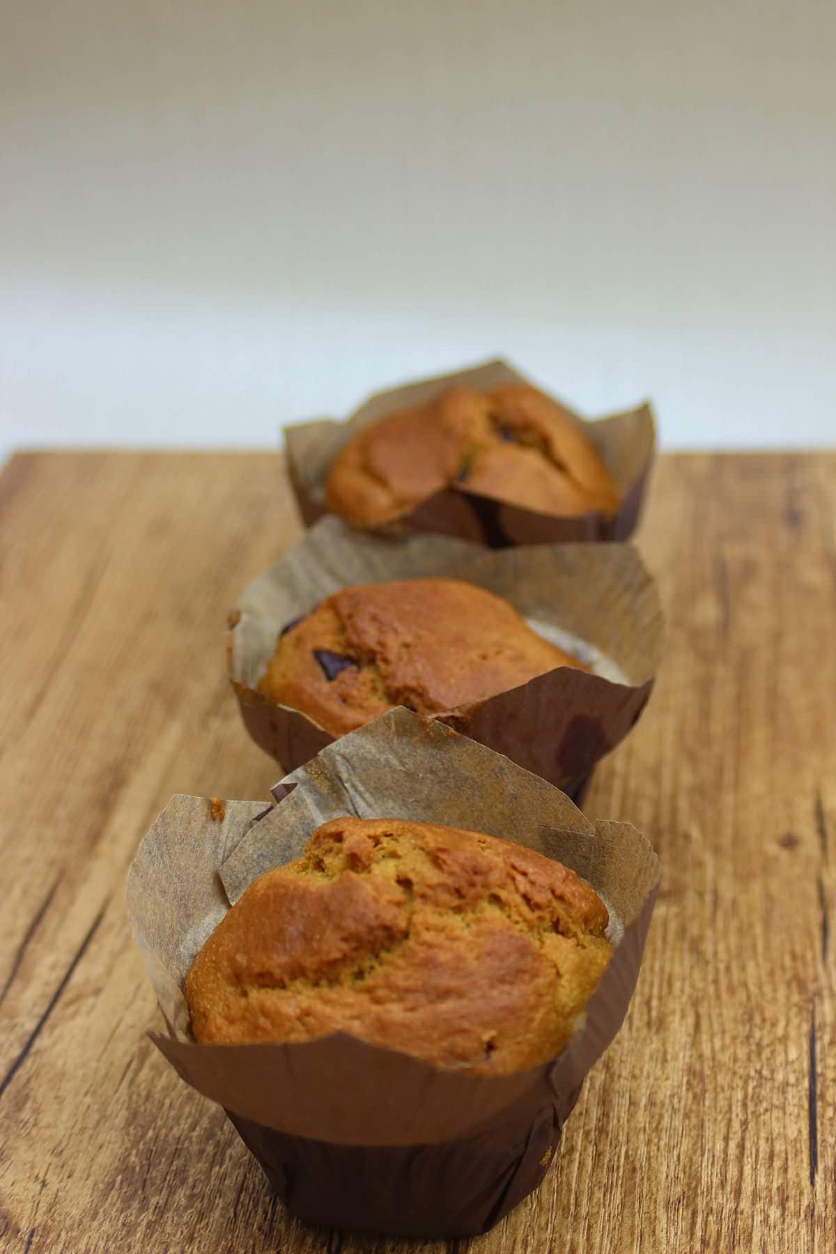 Muffins géants au chocolat