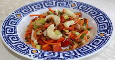 Salade de cœurs de palmiers et de légumineuses
