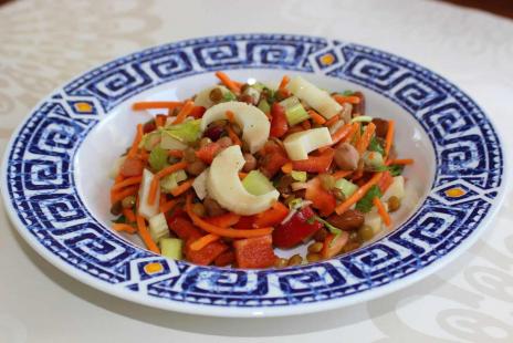 Salades - Salade de cœurs de palmiers et de légumineuses