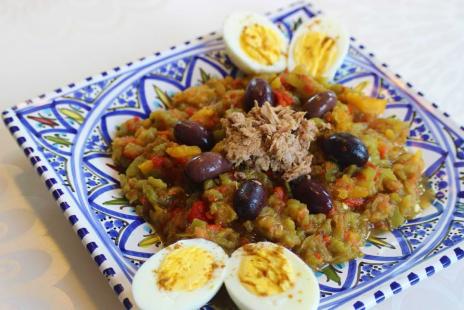 Salades - Salade de poivrons grillés à la Tunisienne