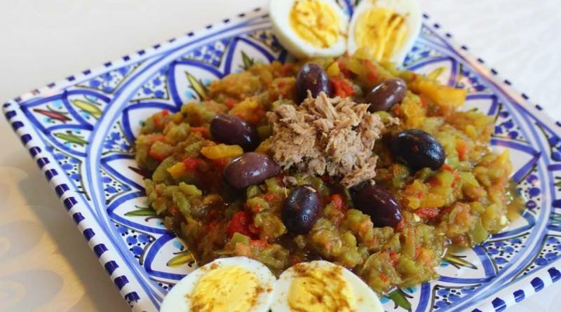 Salade de poivrons grillés à la Tunisienne