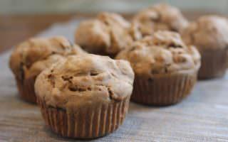 Muffins Sans Gluten - Muffins aux dattes et graines de citrouille sans œufs