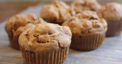 Muffins aux dattes et graines de citrouille sans œufs