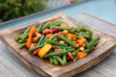 Salades - Salade de haricots mélangés