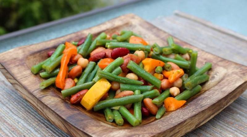 Salade haricots mélangés