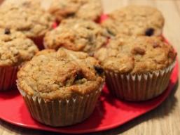 Muffins aux Bananes et Chocolat Sans Gluten