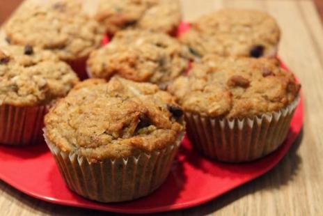 Muffins aux Bananes et Chocolat Sans Gluten et Sans Produits Laitiers