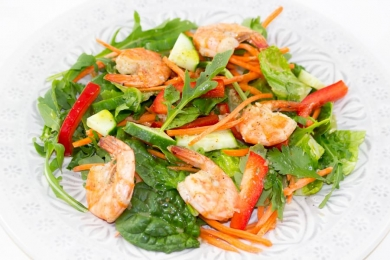 Salades - Salade de Crevettes à la Lime