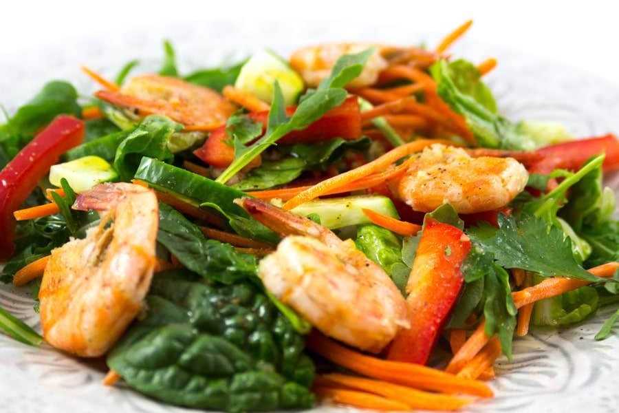 Salade de Crevettes à la Lime