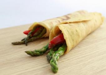 Plats Principaux -Crêpes aux asperges et jambon