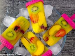 Popsicles aux Fruits Sans Produits Laitiers