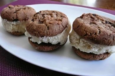 Crème Glacée Maison Sans Produits Laitiers - Sandwich à la crème glacée