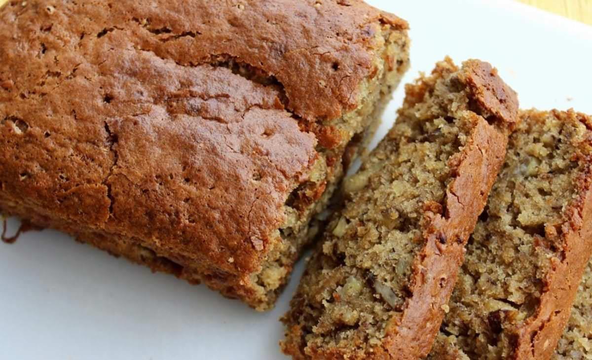 Gâteau (Cake) aux Bananes Sans Gluten et Sans Produits Laitiers