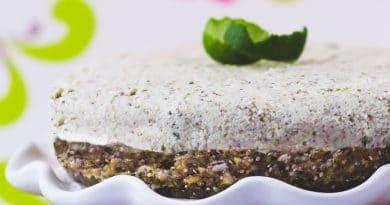 Gâteau Fauxmage à la Lime et Son Coulis de Fraises Sans Gluten et Sans Produits Laitiers Sans Lactose