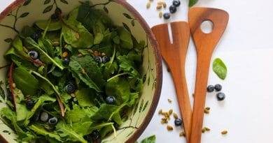 Salade de Verdures et de Bleuets