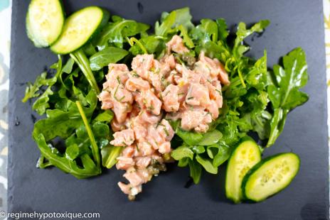Salades - Tartare de Saumon et sa roquette