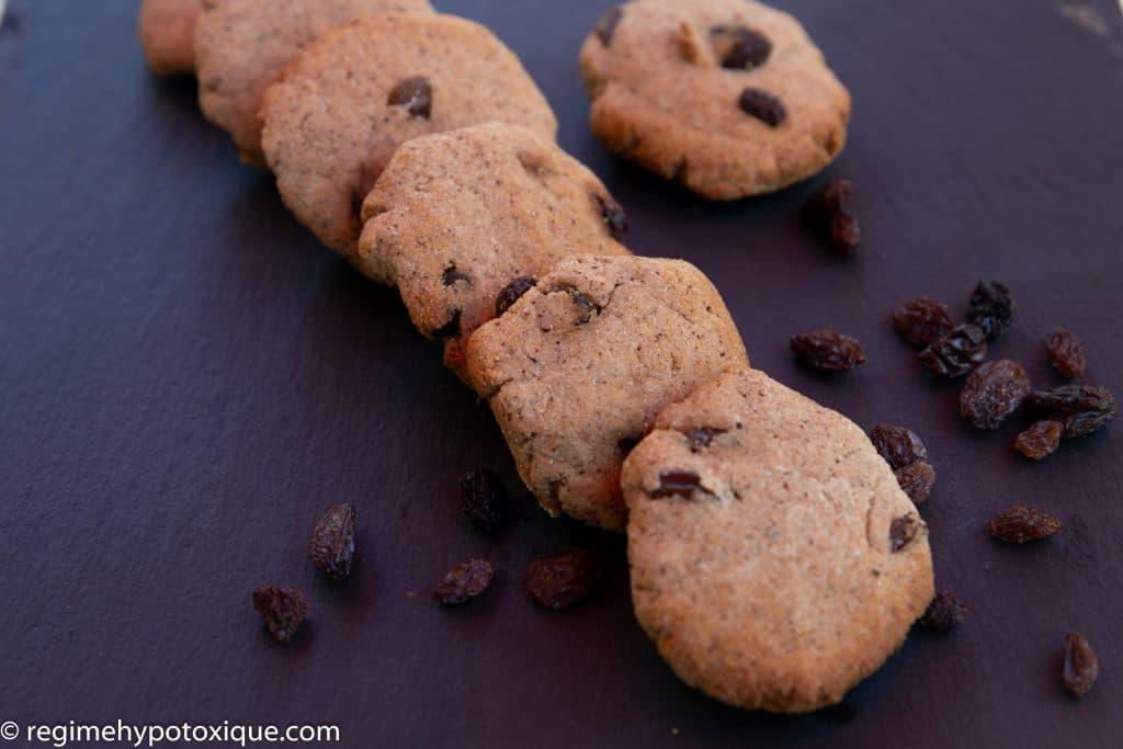 Biscuits aux Raisins Secs Sans Gluten et Sans Produits Laitiers