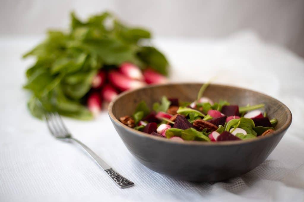 Salade de Betteraves-Roquette  Sans Gluten et Sans Produits Laitiers