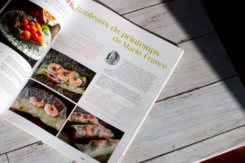 Niépi Magazine - Rouleaux de printemps